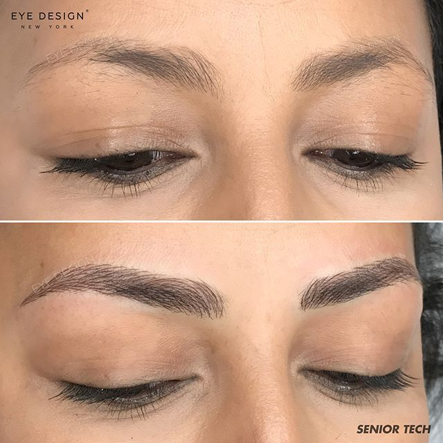 Brows Done By Senior Technician, #EyeDesignDaniela. Follow