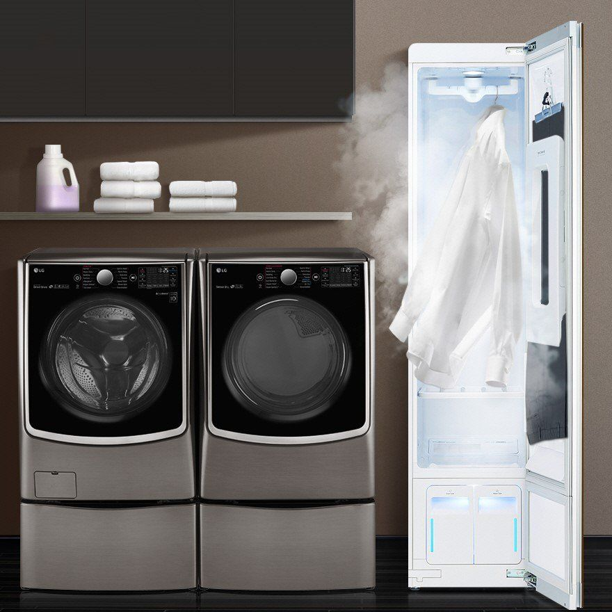 2 000 Lg Styler Steam Clothing Care System Dry Cleaning At Home Clothing Care Small Laundry Rooms