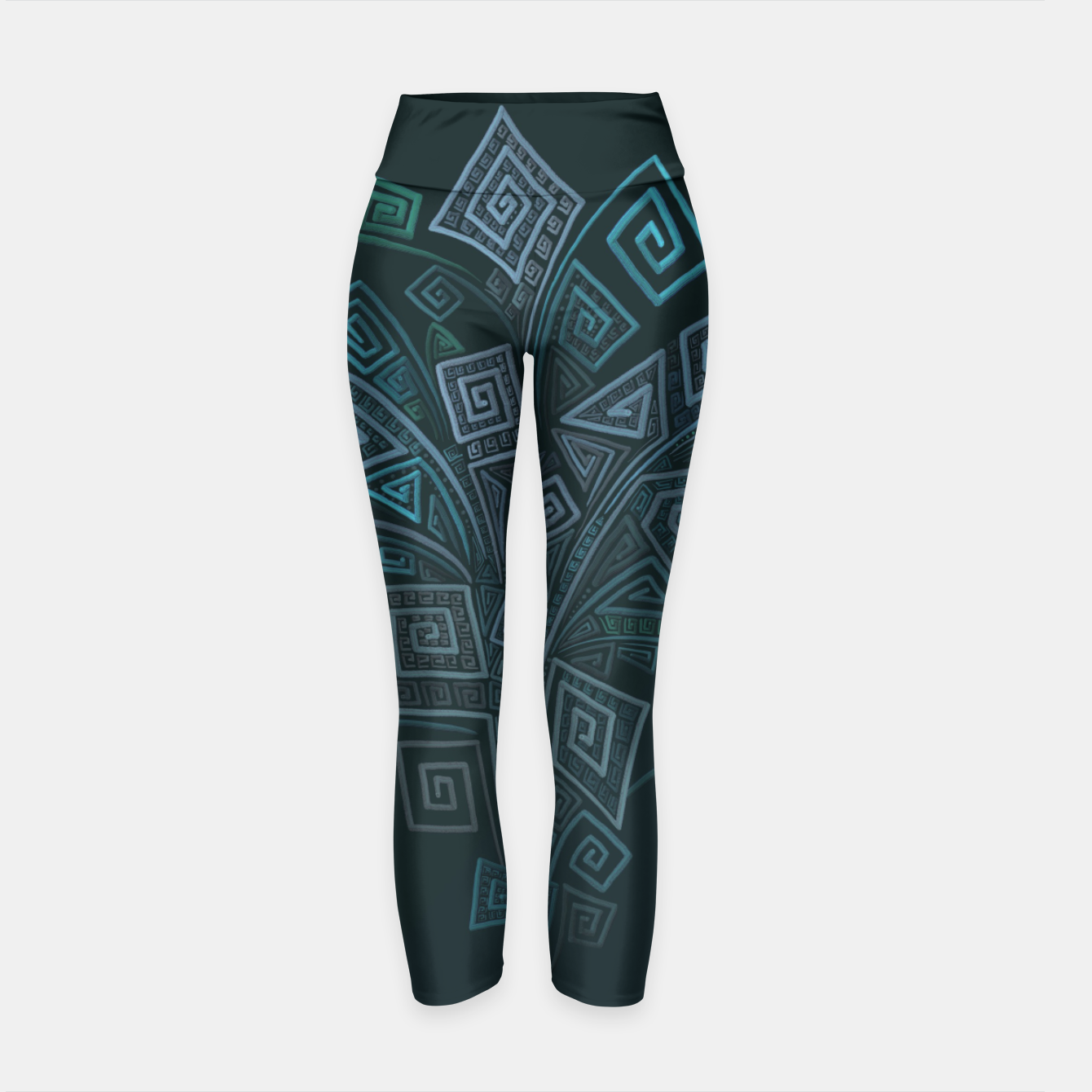 3D Psychedelic Square Explosion Yoga Pants  by Ivana.One