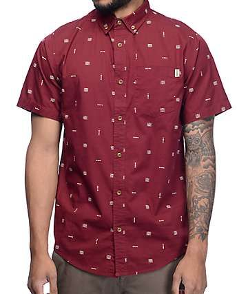 Dravus Boris Burgundy Print Button Up Shirt | Gear | Pinterest ...