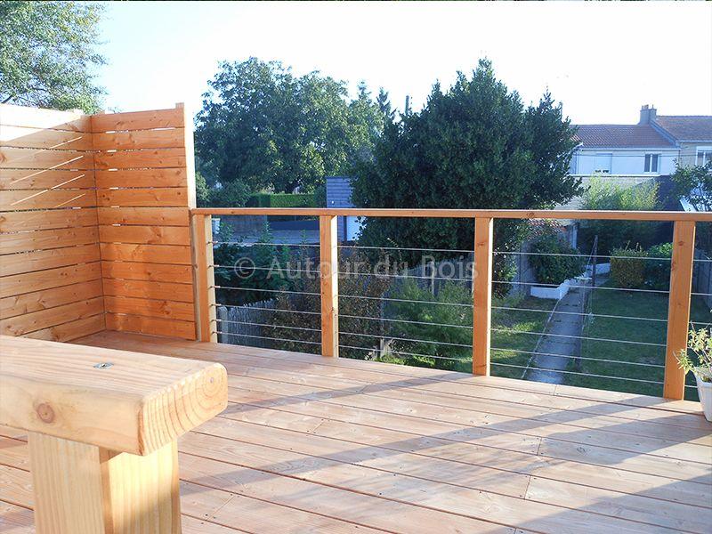 Terrasse bois suspendue sur pilotis et balcons bois à angers ...