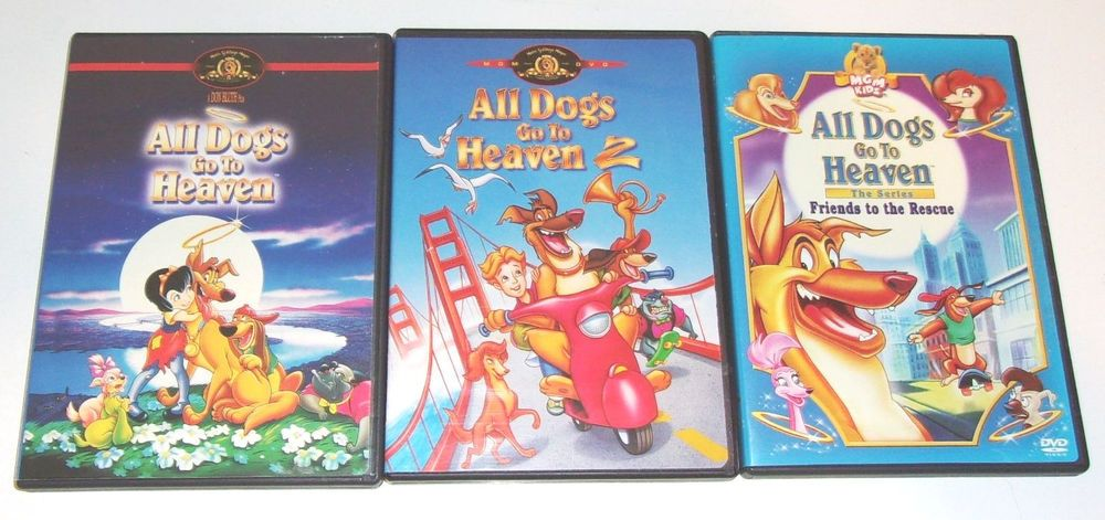 3 All Dogs Go To Heaven Dvd Lot 1 2 Series Friends To The Rescue