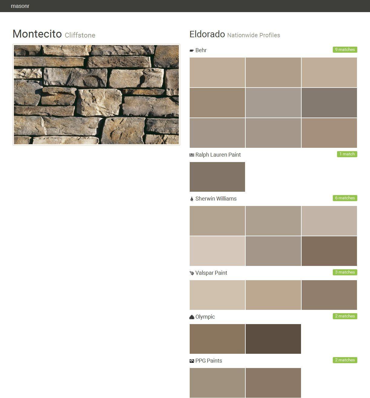 montecito cliffstone nationwide profiles eldorado behr. Black Bedroom Furniture Sets. Home Design Ideas
