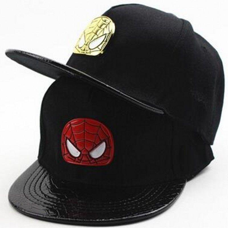 2017 New Fashion Wholesale Cool Black Spider Men Children Boys Snapback Caps Mesh Caps Hip Hop Baseball Cap Hats 48 53cm Kids Baseball Caps New Fashion Hats