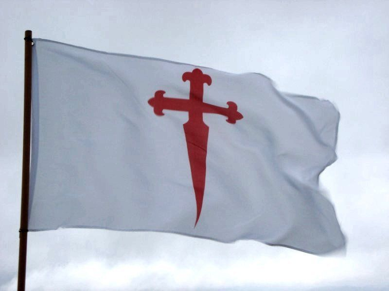 Bandera Cruz de Santiago 150x90cm Cross of Saint James of Compostela Flag 5x3