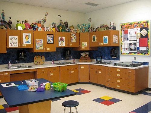 Example Of An Art Room Set Up