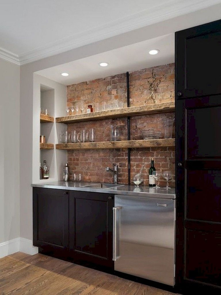 72 Lovely Kitchen Backsplash With Dark Cabinets Decor Ideas With