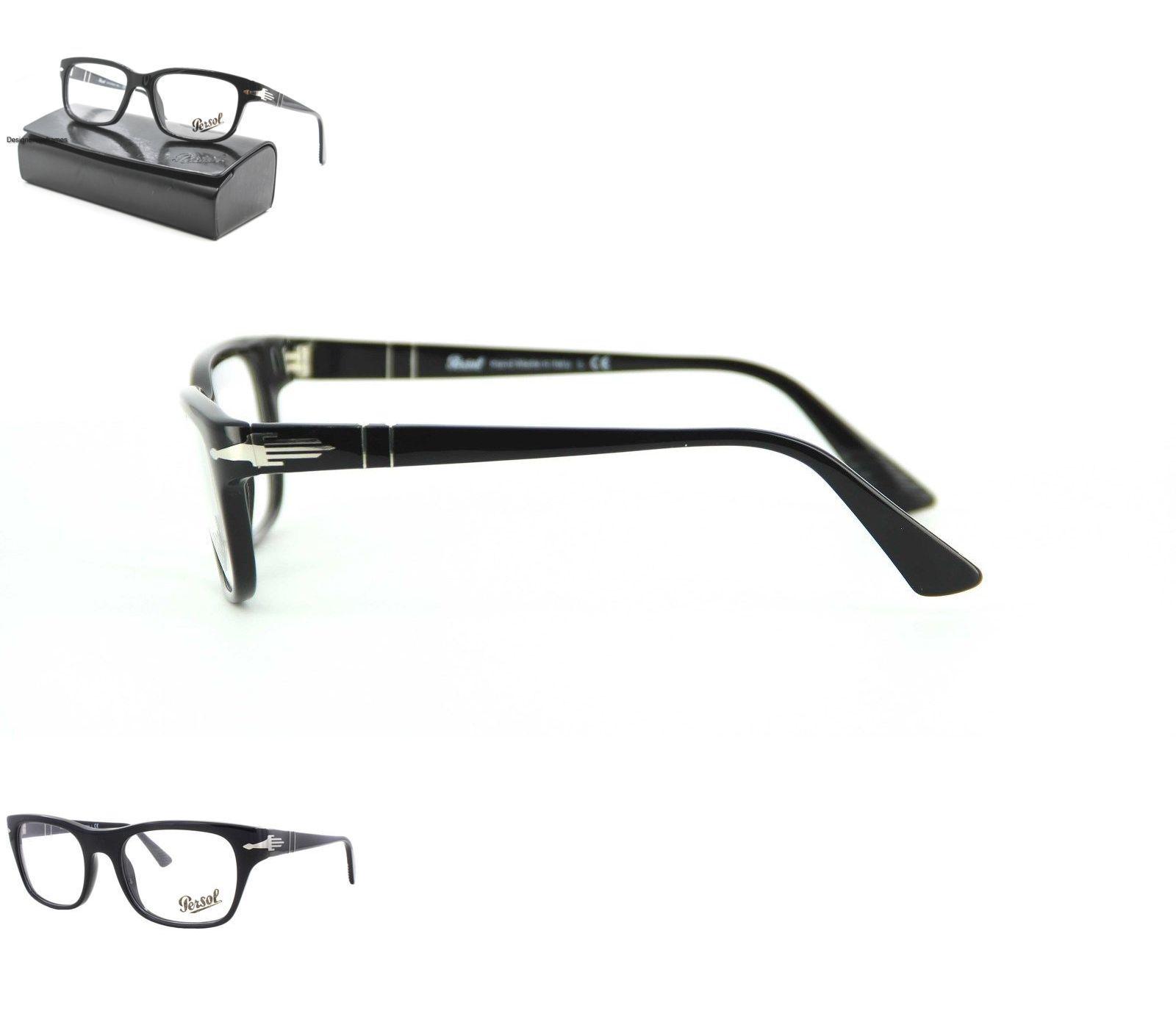 Fashion Eyewear Clear Glasses 179244: Persol 3073V 95 Shiny Black ...