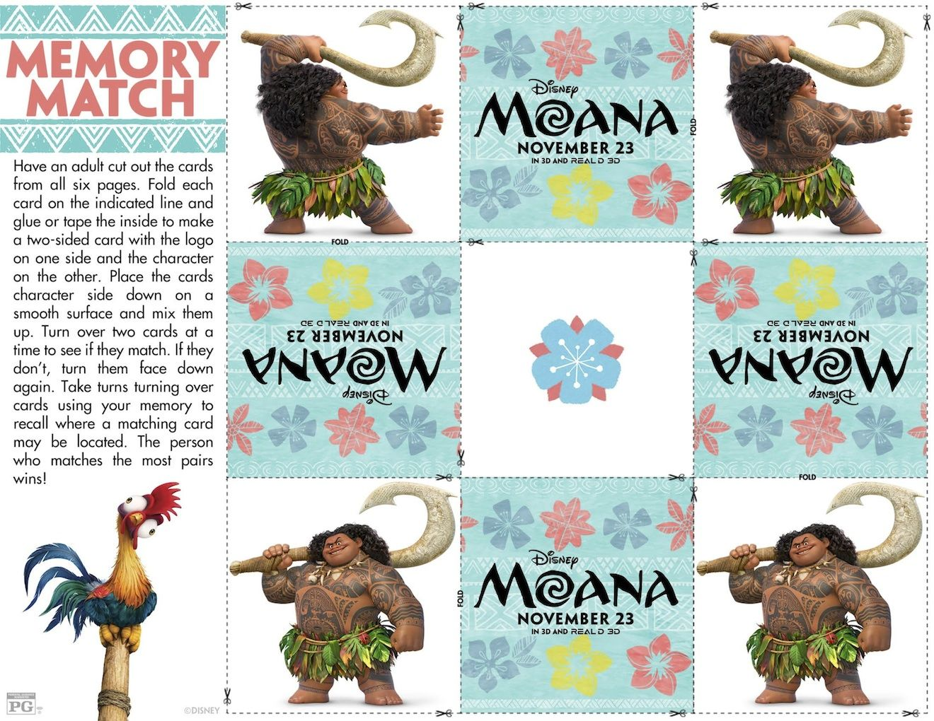 Can\'t get enough of Moana? Sharing with your guys 23 pages of Free ...