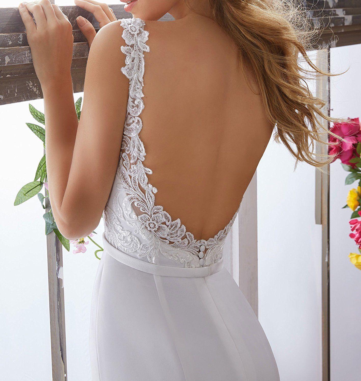 Half Flower Bridal Women's Mermaid Lace Beach Bridal Dress