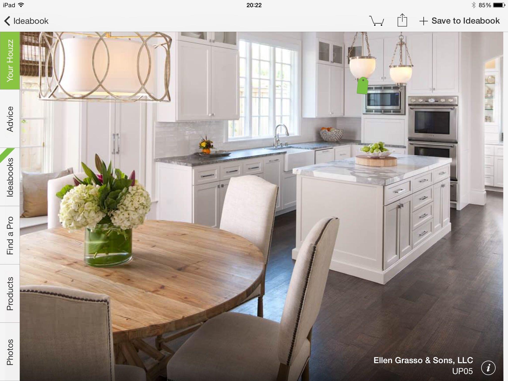 Coordinar gabinete de la cocina piso de madera de color - Explora Comedores Cocinas Blancas Y Mucho M S