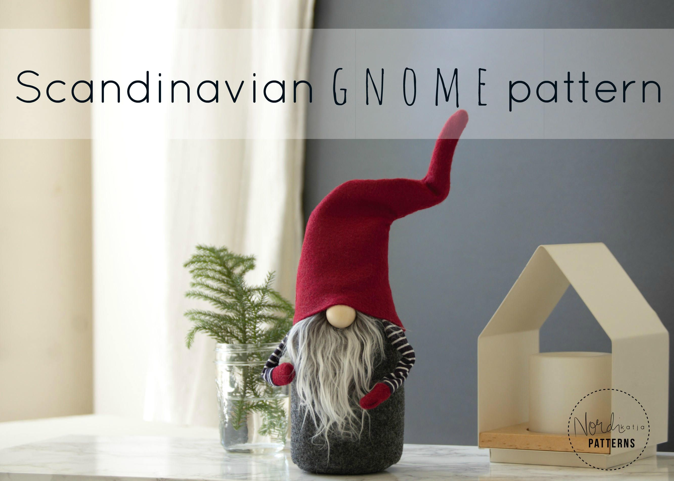 Claus The Scandinavian Christmas Gnome Pattern By Nordikatja Etsy Gnome Patterns Scandinavian Christmas Christmas Gnome