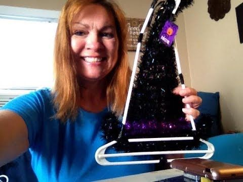 8da98b25bd2 Make Witch hat frame with Dollar Tree plastic hangers - YouTube ...