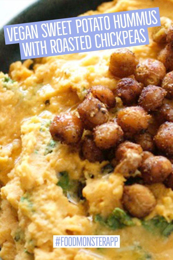 Sweet Potato Hummus With Roasted Chickpeas Vegan Gluten