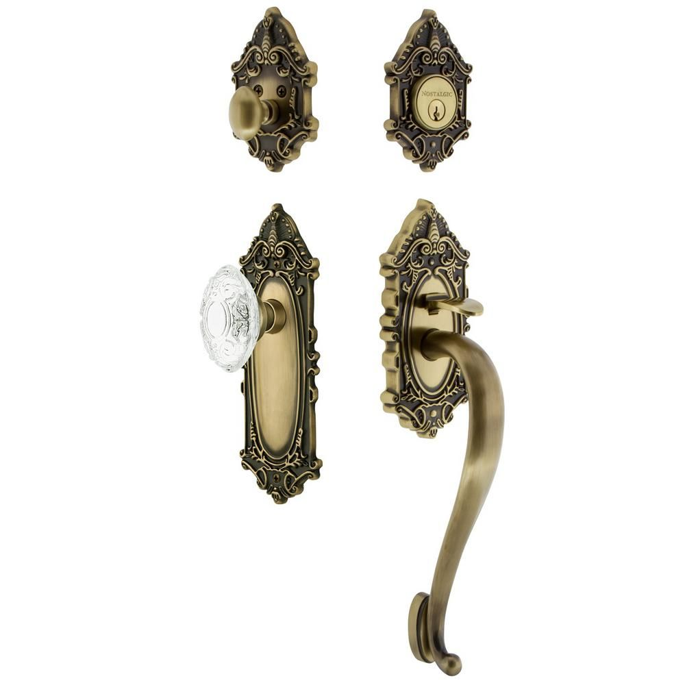 Mortise Nostalgic Warehouse Victorian Plate with Keyhole Parlor Lever Satin Nickel