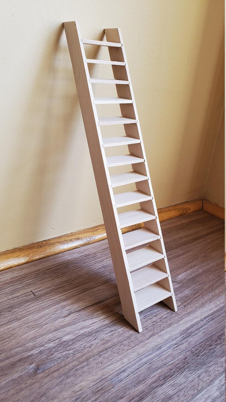 Dollhouse Miniature Stairs Stairway Simple Tall Narrow