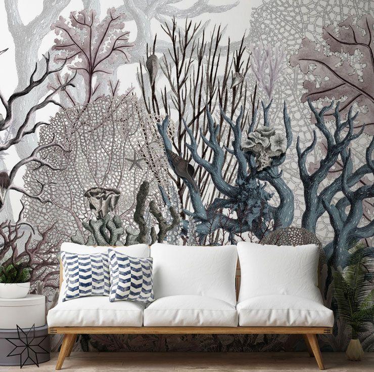 10 Of The Best Ocean Wallpaper Murals Wallsauce Nz Ocean Wallpaper Coral Wallpaper Mural Wallpaper