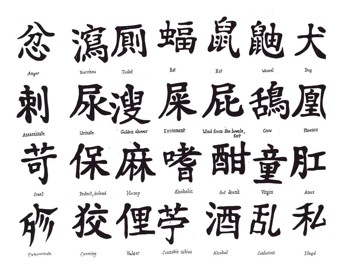 Laminas tattoo s kanji caracteres chinos la lengua y for Minimalist bedeutung