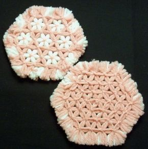How To Diy Hexagon Lap Weave Coaster Loom Craft Loom Knitting Projects Loom Knitting Patterns