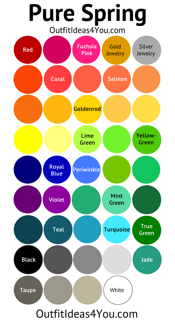 Pure Spring Color Palette Clear Spring Spring Color Palette Spring Colors Pure Products