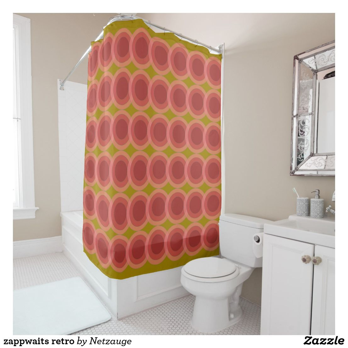 Zappwaits Retro Shower Curtain Cool Shower Curtains Retro
