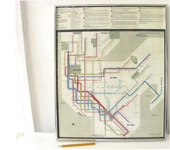 Massimo Vignelli Subway Map 1978.Framed 1978 Massimo Vignelli New York Subway Map Poster Wary Meyers