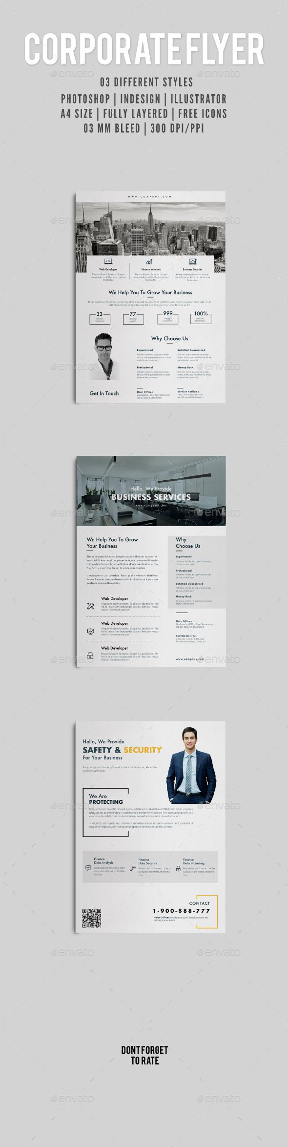 Corporate Flyer | Pinterest | Flyer printing, Print templates and ...