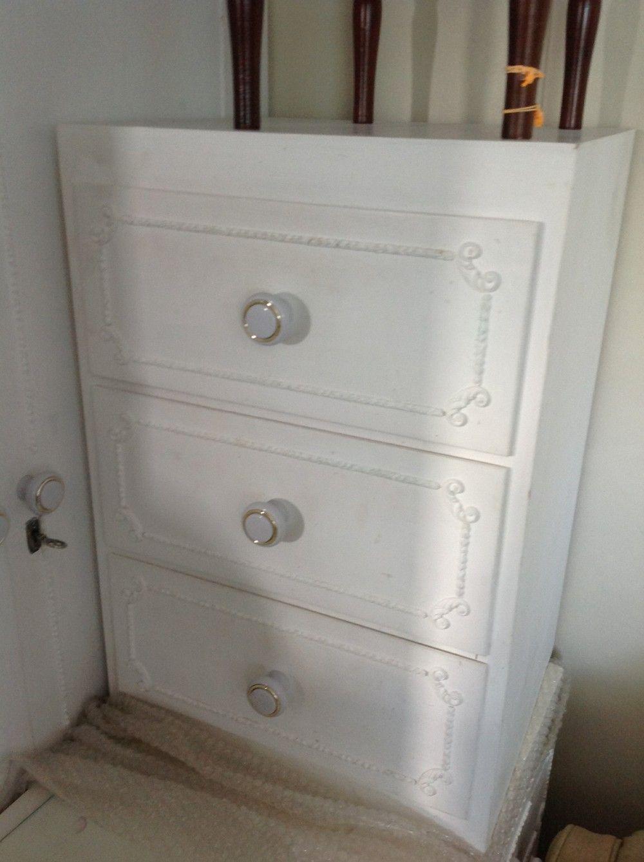 Preloved Bedroom Furniture Chest Of Drawers Bedside Liden Whitewood 1960s Via Preloved