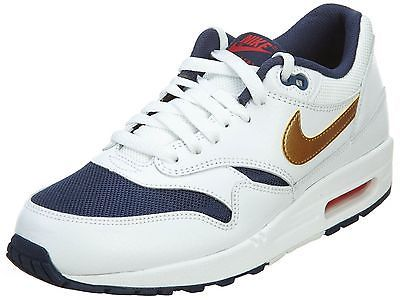 innovative design 052c1 56f6d Nike Air Max 1 Essential Mens 537383-127 Olympic Gold Running Shoes Size  10.5