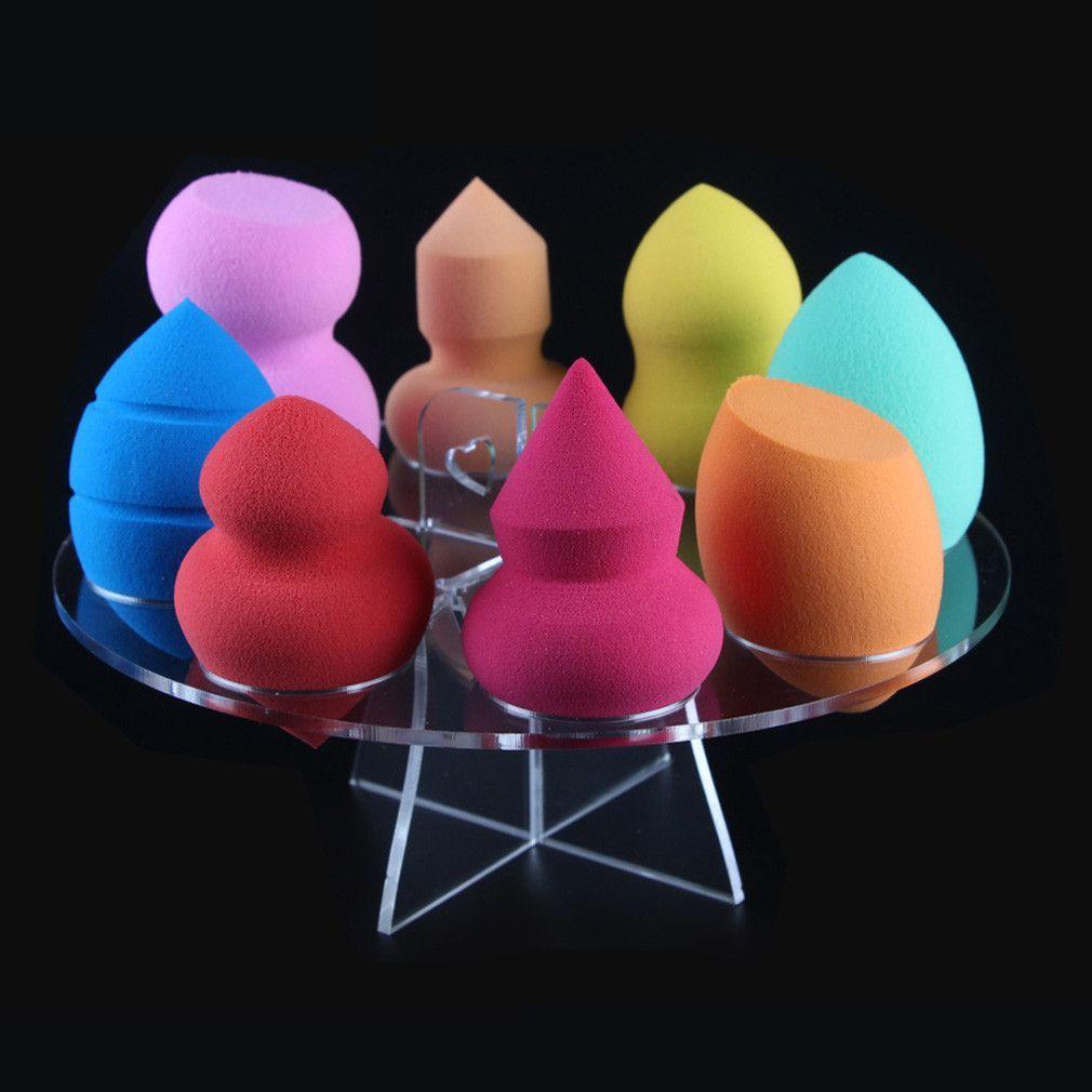 Multifunction 8 Holes Makeup Powder Puff Holder Rack Organizer Cosmetic Shelf Tool