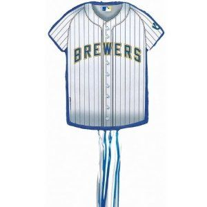 Milwaukee Brewers Baseball - Shirt Shaped Pull-String Pinata by YA OTTA PINATA. $22.56. Manufactured to the Highest Quality Available.. Design is stylish and innovative. Satisfaction Ensured.. Great Gift Idea.. Standard Pack for 8 includes: 8 invitations, dinner plates, dessert plates, cups, forks, spoons, knives, 16 napkins, solid-color tablecover, foil balloon, 12 latex balloons (2 colors), curling ribbons (2 colors), crepe paper rolls (2 colors).Standard Pack for 16 i...