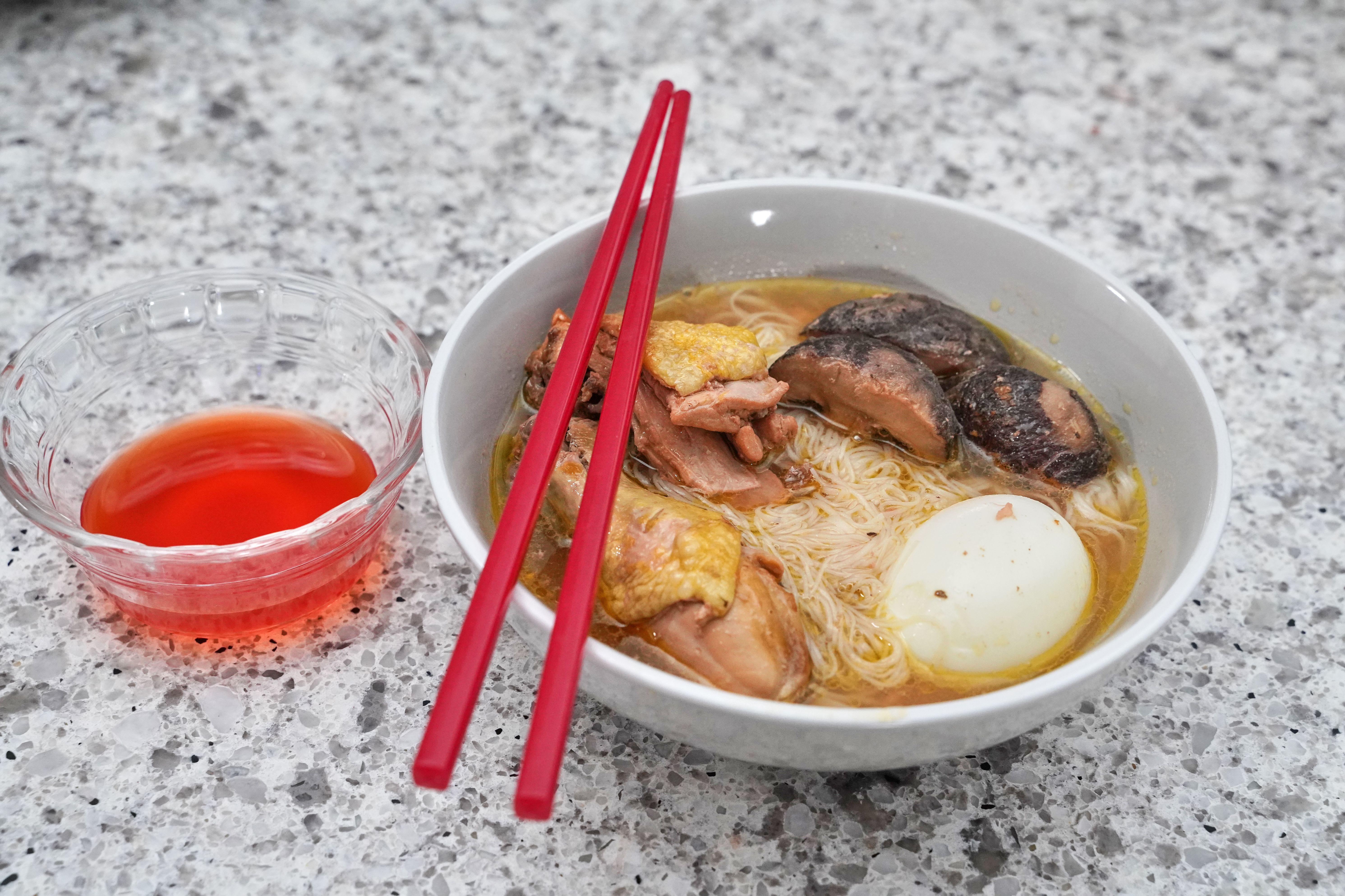 Red Wine Chicken Meesua Soup Rice Vermicelli Main Meals Red Wine Chicken