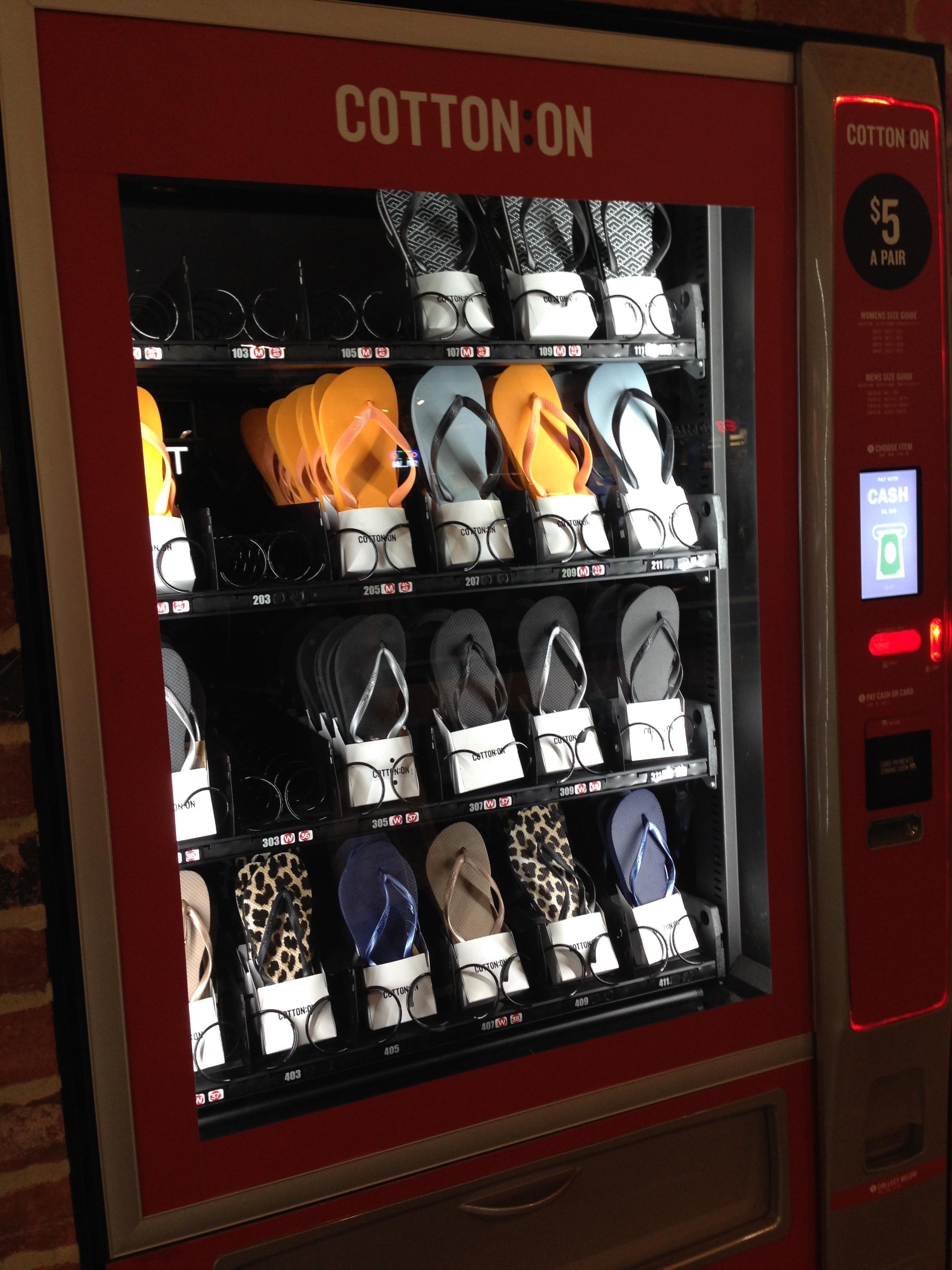 Thongs Vending Machine In Straya With Images Vending Machine