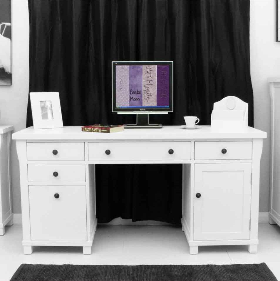 This Exceptional Computer Desk Is Part Of The Refreshing New England Style Country White Home Office