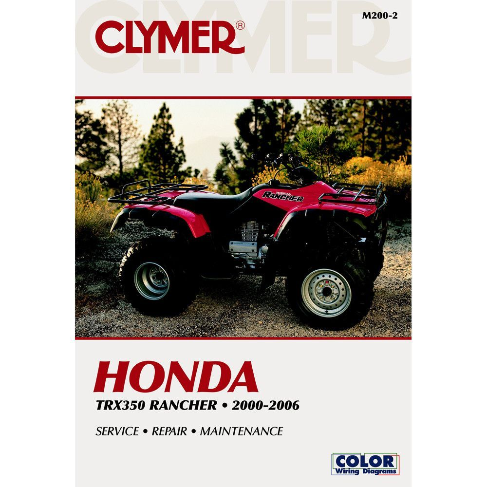 Clymer Honda Trx350 Rancher 2000 2006 Products Pinterest 1992 Gl1500 Wiring Diagram