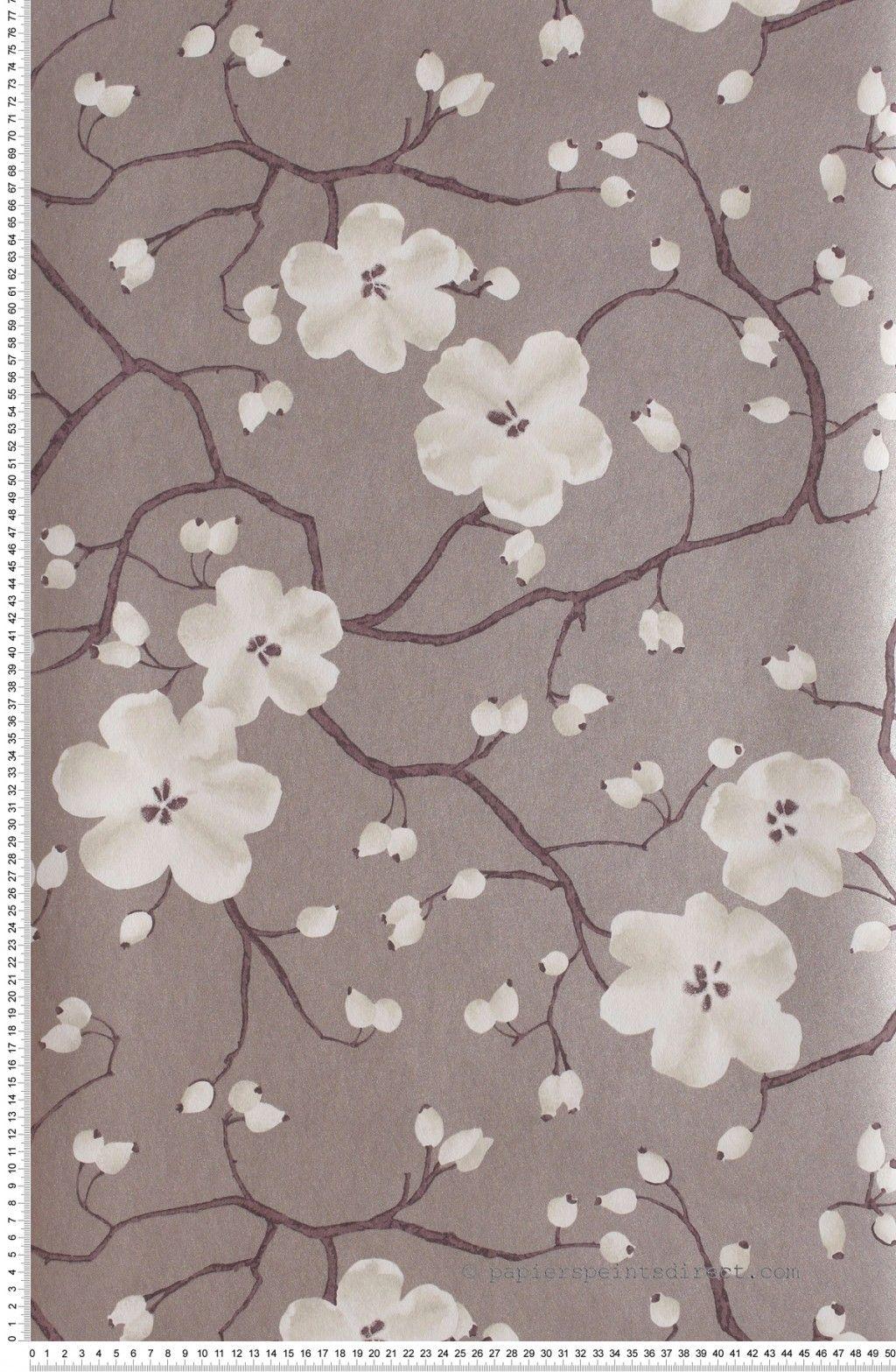 papier peint poppy pourpr tiffanie papier peint chambre pi ce vivre fleurs papier peint. Black Bedroom Furniture Sets. Home Design Ideas