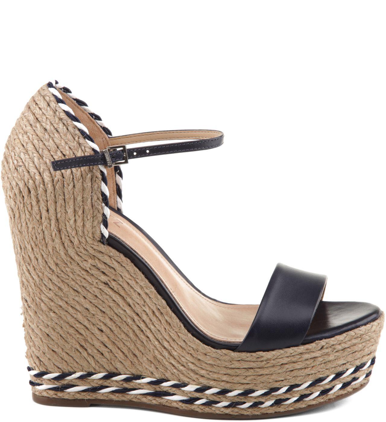 eb84b4e69 SANDÁLIA PLATAFORMA COM TRASEIRA DE PALHA BLACK | zapatos | Sapatos ...