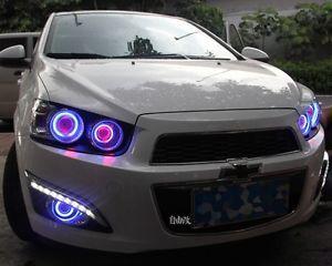 2x Led Drl Daytime Day Fog Lights Angel Eyes For Chevrolet Sonic