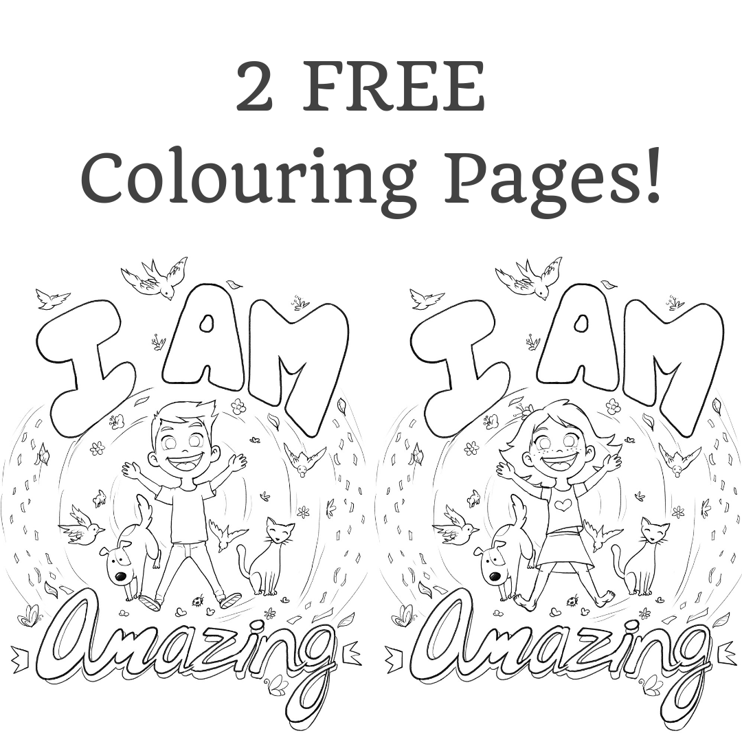 Get These Two I Am Amazing Colouring Page Printables