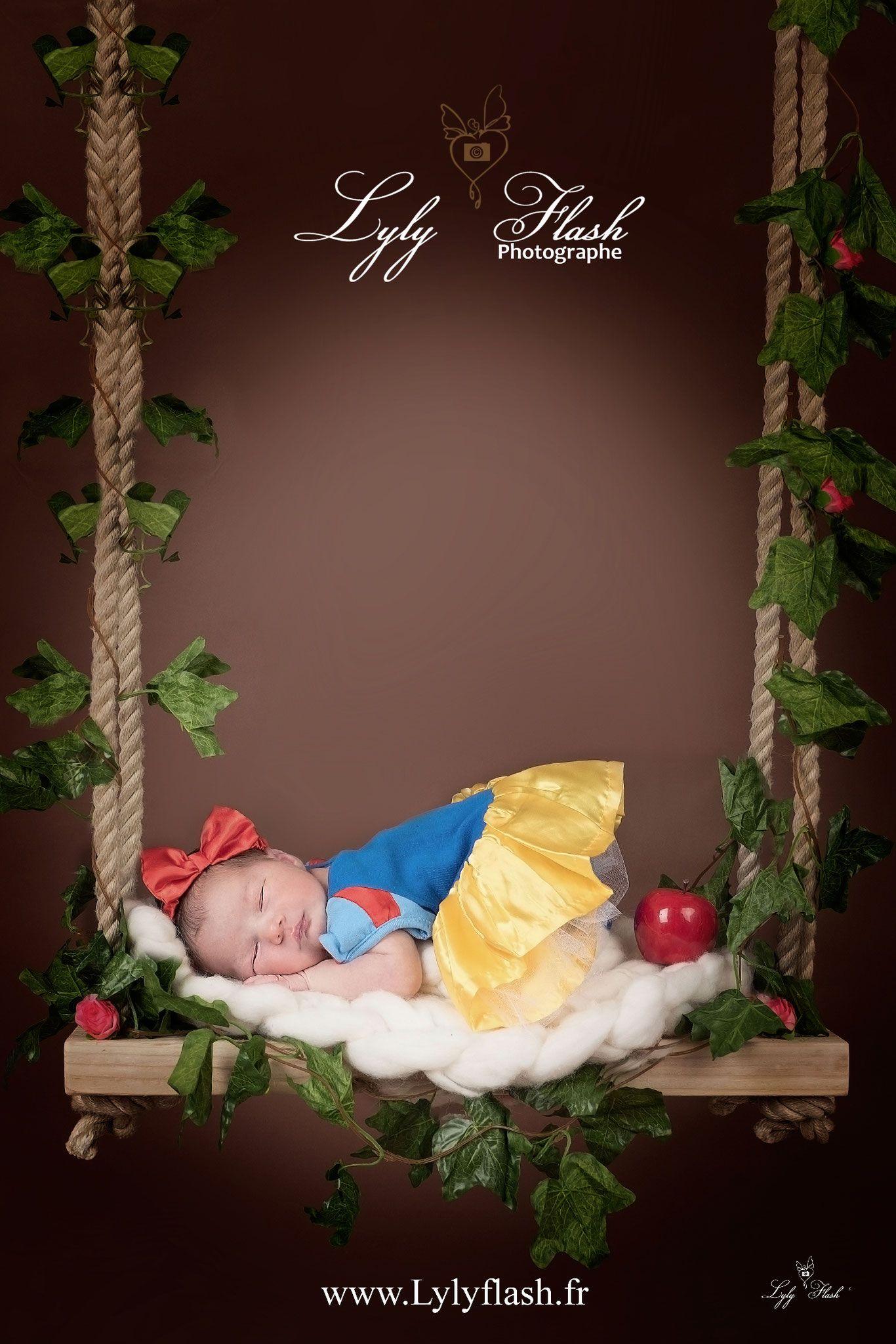 photo originale blanche neige photographe studio naissance nouveau n newborn posing shooting. Black Bedroom Furniture Sets. Home Design Ideas