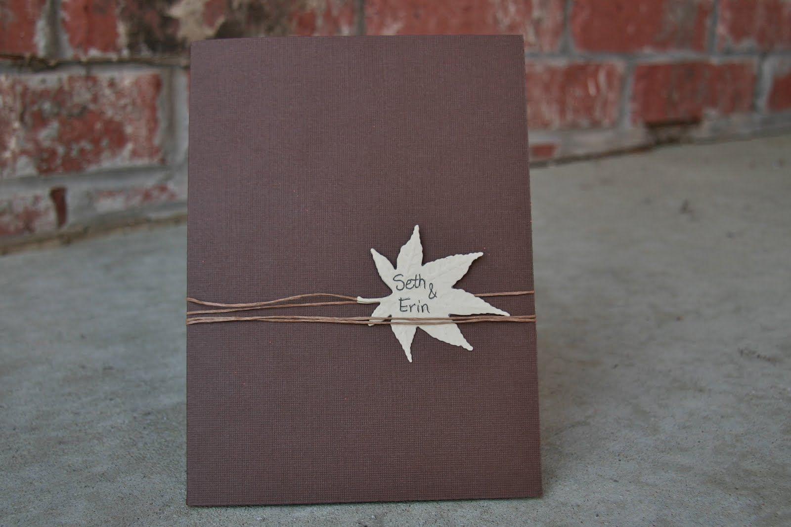 Image detail for diy fall wedding invitations invitations ideas