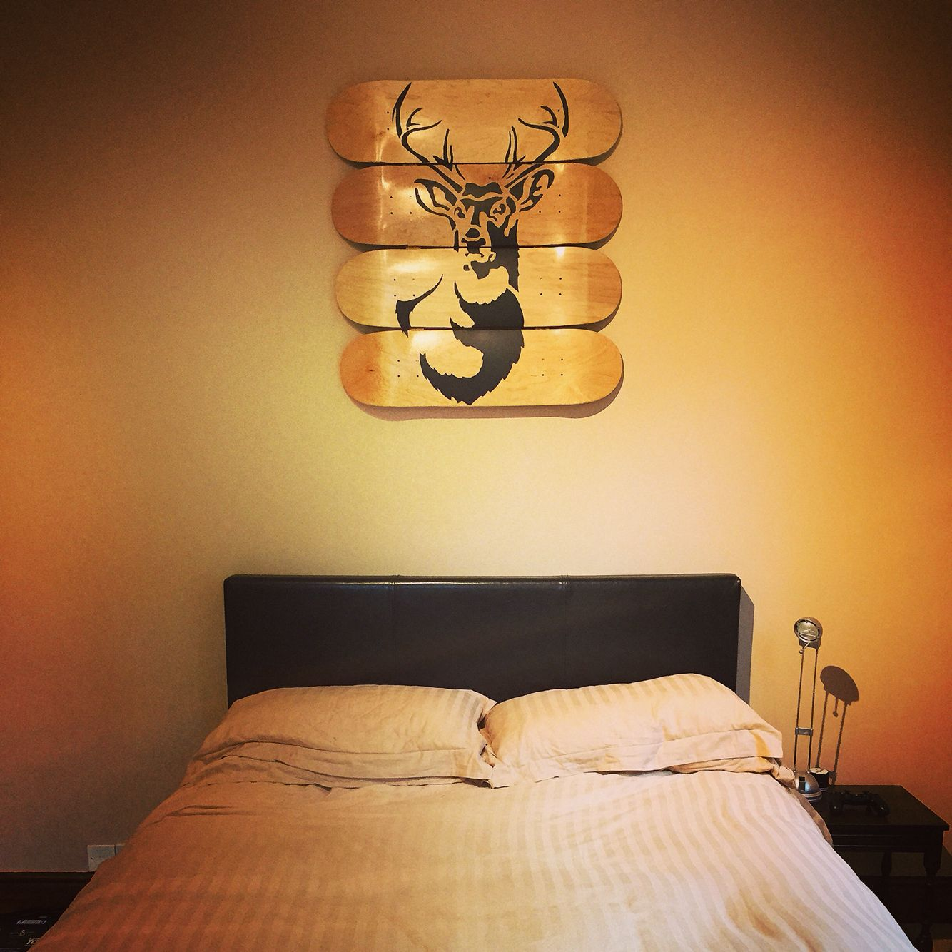 stag #stencil #skateboard #deck #art #design #original | Bedroom ...