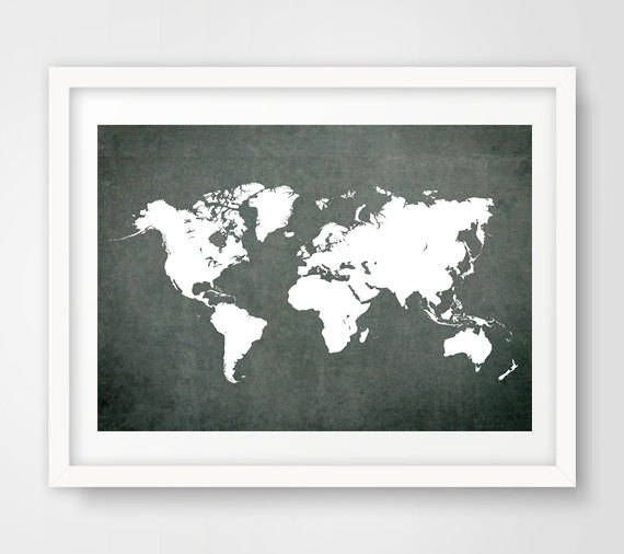Blackboard world map art blackboard world map print grey world map blackboard world map art blackboard world map print grey world map poster black gumiabroncs Image collections