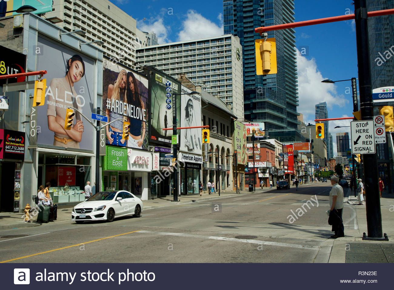Download This Stock Image Canada Ontario Toronto Downtown Architecture Yonge Street At Ryerson University Area R3n23e From Yonge Street Downtown Toronto