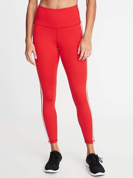 e4a1f8acf273b3 Old Navy High-Rise Side-Stripe 7/8-Length Compression Leggings for Women