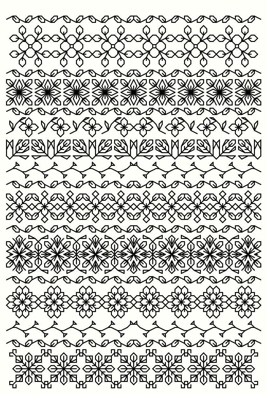 Blackwork | blackwork embroidery | Pinterest | Bordado, Bordado ...