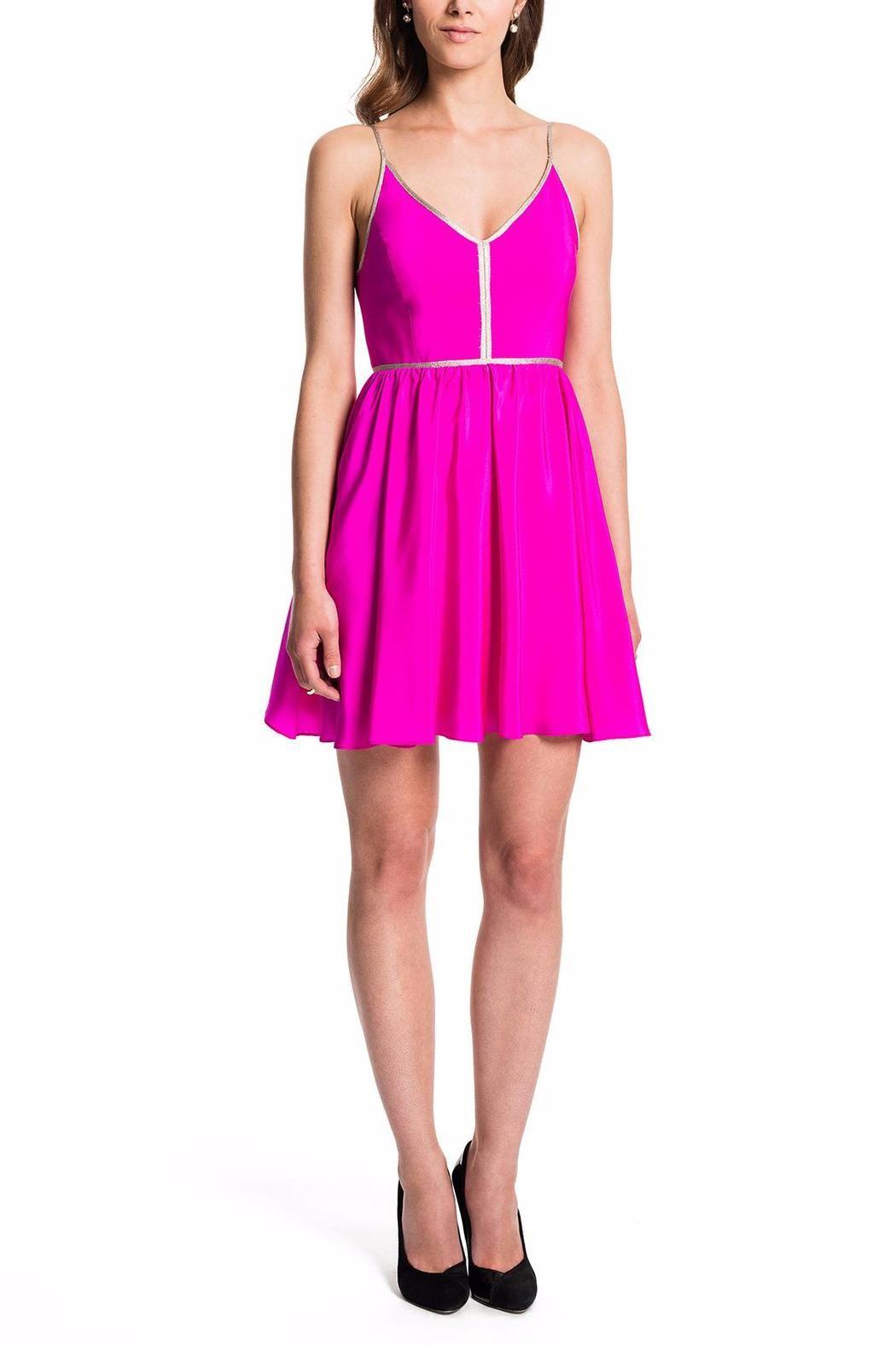 Amanda Uprichard Pink Silk Dress