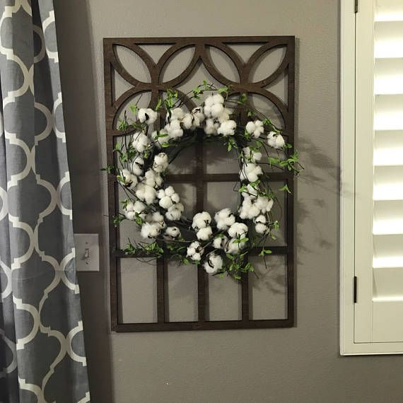 Brown Cathedral Window Frame Wood Window Frame Wreath Hanger Etsy Faux Window Wood Window Frame Cathedral Windows