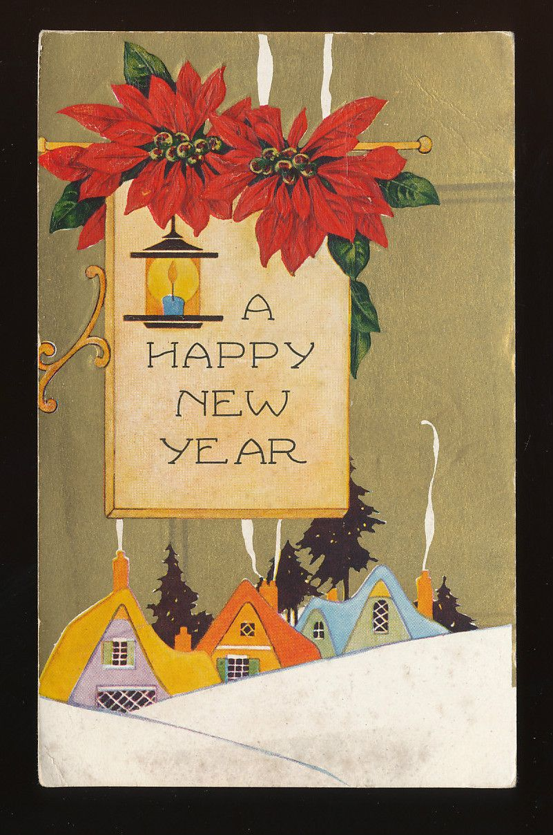 Happy new yearpossible embroidery project vintage
