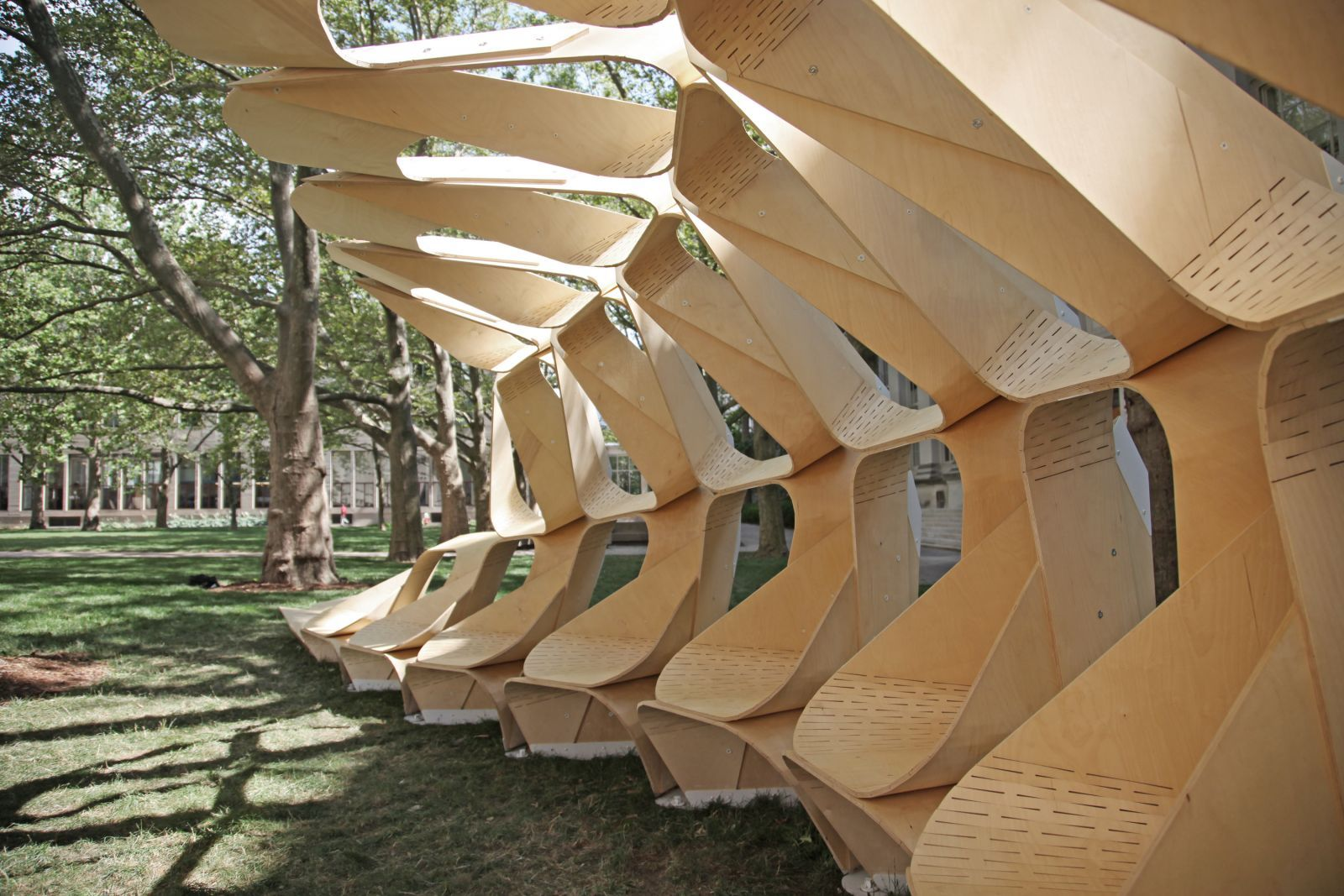 Kerf Pavilion by Brian Hoffer, Christopher Mackey, Tyler Crain, Dave Miranowski, architecture students at MIT